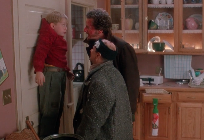 Since Kevin is about to get his fingers bitten off by the Wet Bandits, this might be a valid exigency that would allow cops to enter a house without a warrant