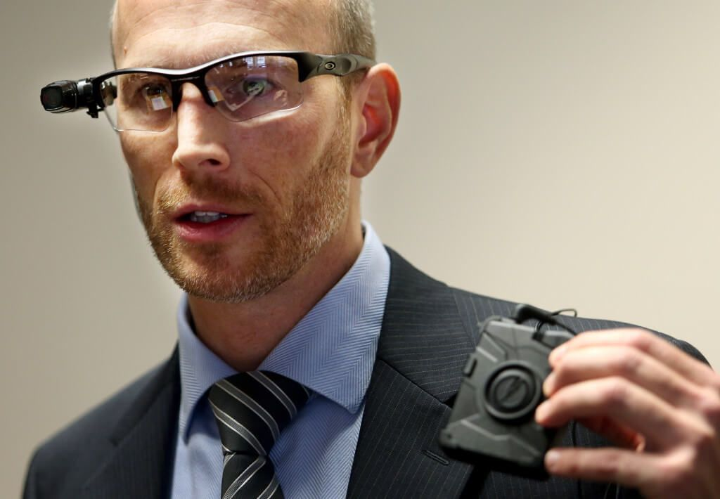 The POV glasses camera and the radio camera are two options for officers wearing body worn cameras